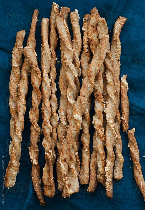Wholemeal Cheese Straws by Dobránska Renáta for Stocksy United