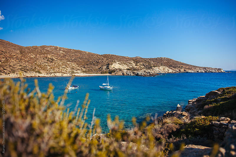 Private Beach in Ios, Greece by Aaron Thomas for Stocksy United