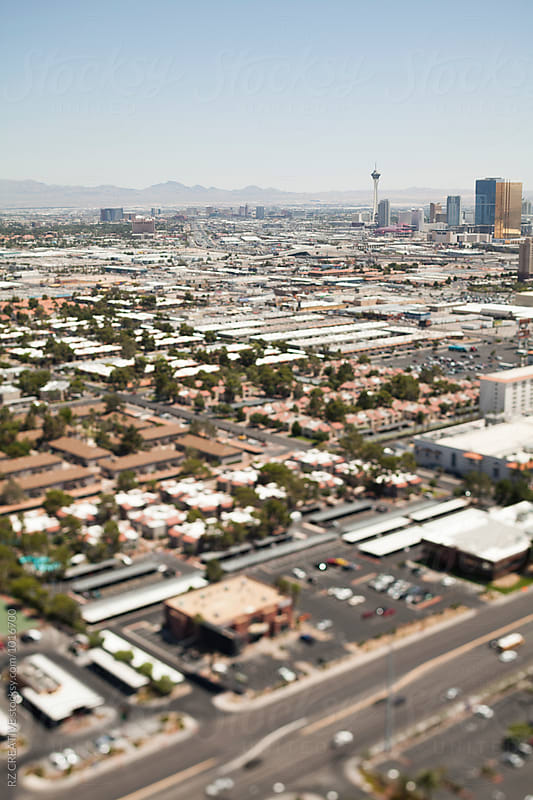 Tilt-shift (selective focus) of Las Vegas, Nevada. by RZ CREATIVE for Stocksy United