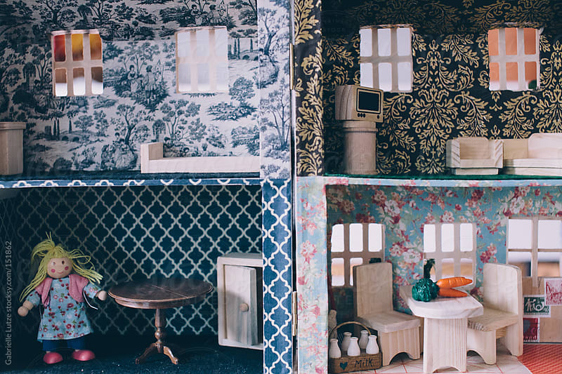 Dollhouse Interior  by Gabrielle Lutze for Stocksy United