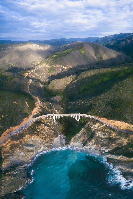 Bixby Bridge from Above by Casey McCallister for Stocksy United