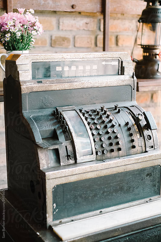 Vintage cash register by Sam Burton for Stocksy United