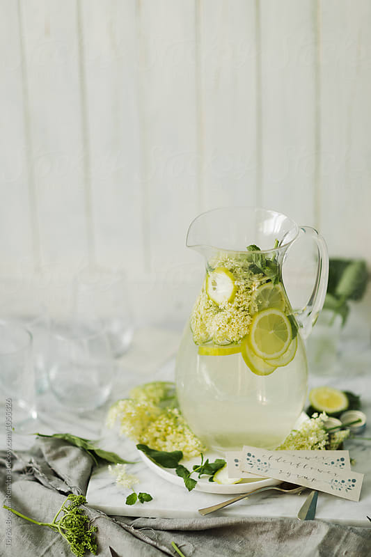 Elderflower lemonade  by Török-Bognár Renáta for Stocksy United