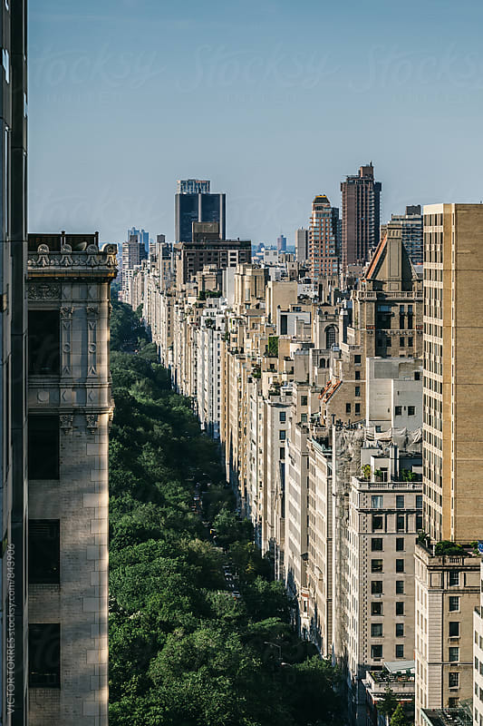 5th Avenue in the Upper East Side close to Central Park, Manhattan, New York by Victor Torres for Stocksy United