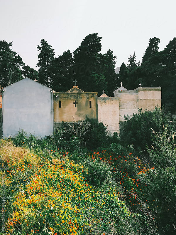 Cemetery in Sicily Italy by Julien L. Balmer for Stocksy United