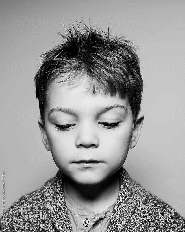 Young Boy Studio Portrait by Cameron Whitman for Stocksy United