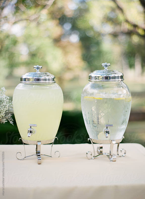 Lemonade and water by Marta Locklear for Stocksy United