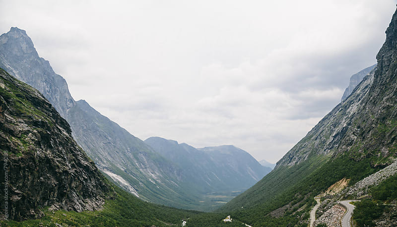 Trollstigen Visitor CentreBeautiful landscape in the Norwegian f by Agencia for Stocksy United