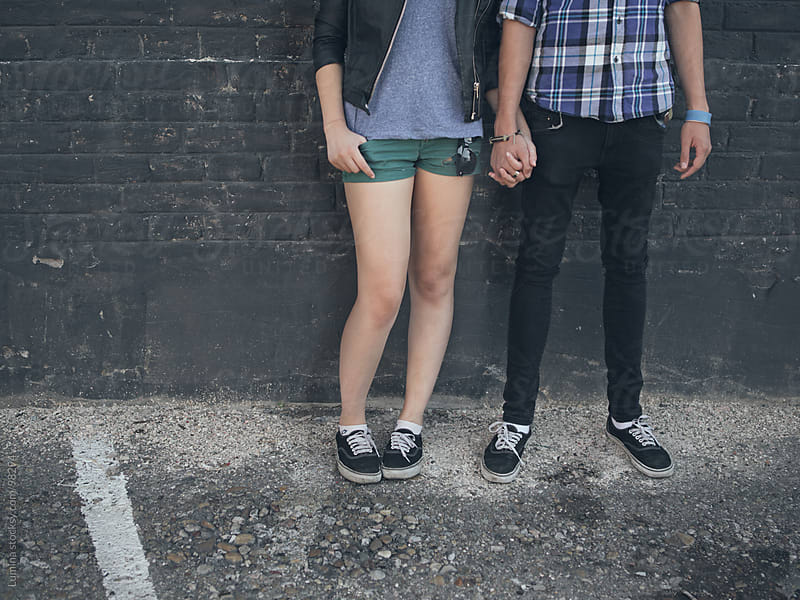 Teenage Couple Holding Hands by Lumina for Stocksy United