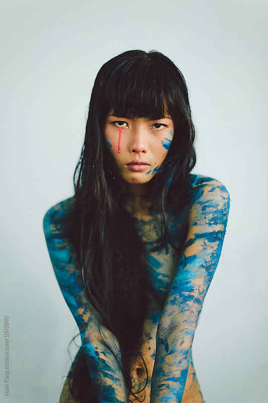 Upset woman by Nabi Tang for Stocksy United