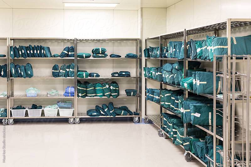 Hospital clothing storage room by MaaHoo Studio for Stocksy United