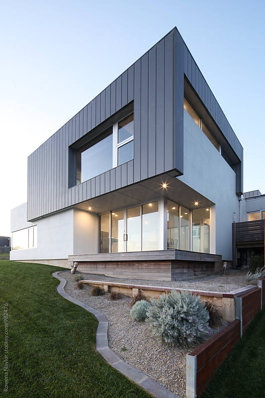 Modern architect designed home by Rowena Naylor for Stocksy United