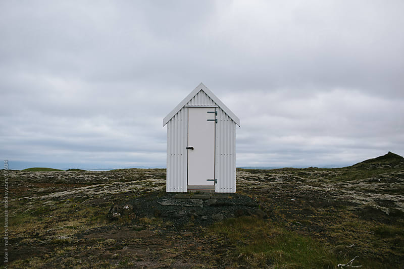 Little white shed by luke + mallory leasure for Stocksy United