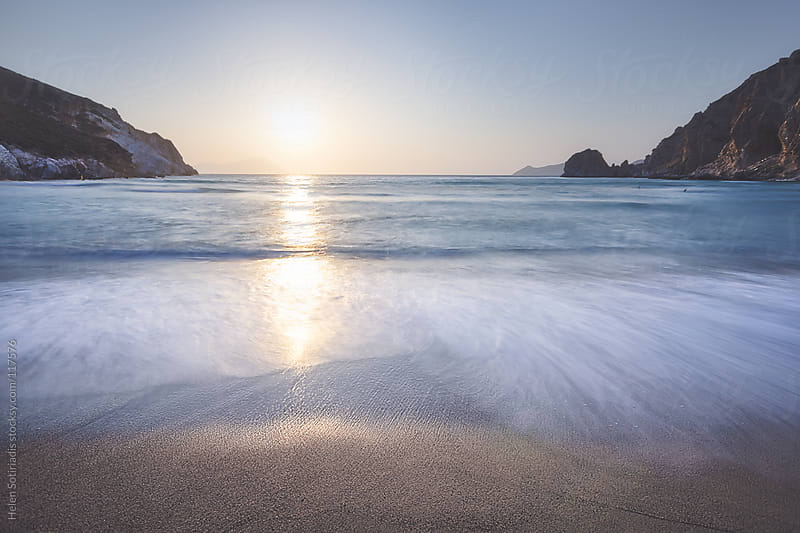 Beach at Sunset by Helen Sotiriadis for Stocksy United
