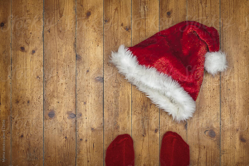 Santa Claus Hat  on the Floor by HEX. for Stocksy United