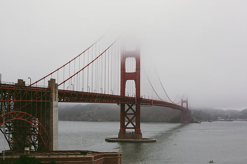 View of San Francisco bay with Golden Gate bridge by michela ravasio for Stocksy United