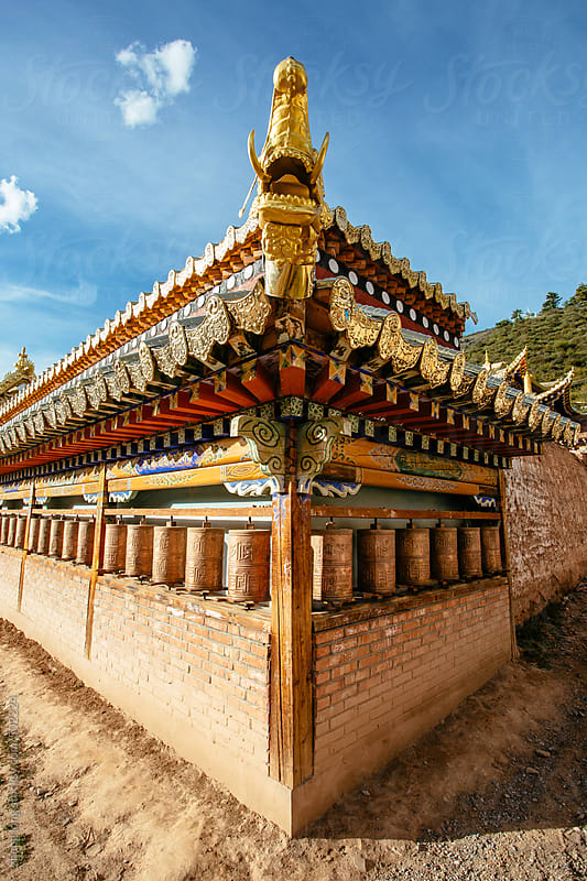 The Lama Temple in Tibet by zheng long for Stocksy United