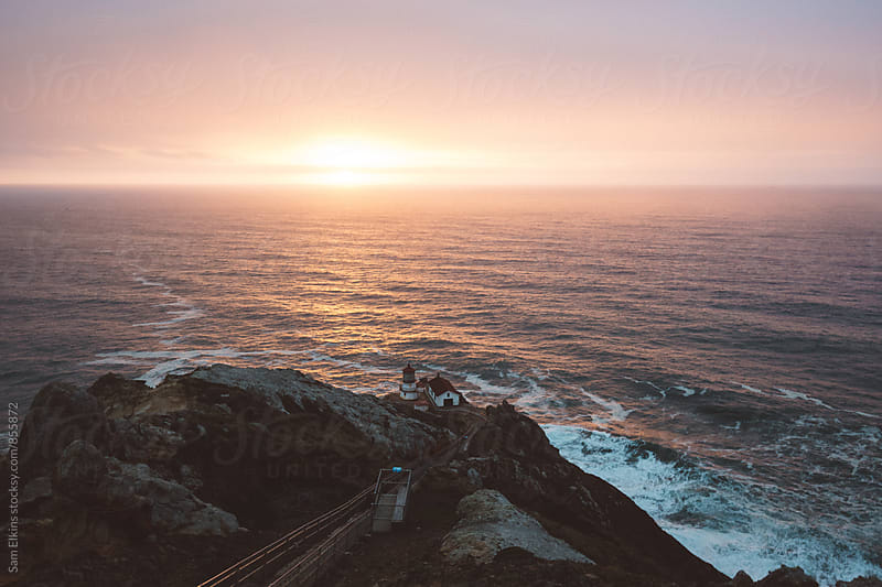 Sunset at the Ocean by Sam Elkins for Stocksy United