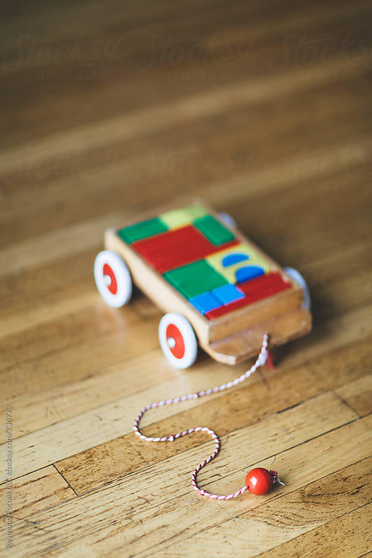 Toy Blocks on Wheels by Raymond Forbes LLC for Stocksy United
