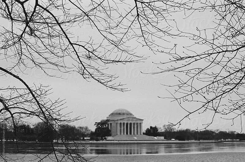 Jefferson Memorial in the winter  by Cameron Whitman for Stocksy United