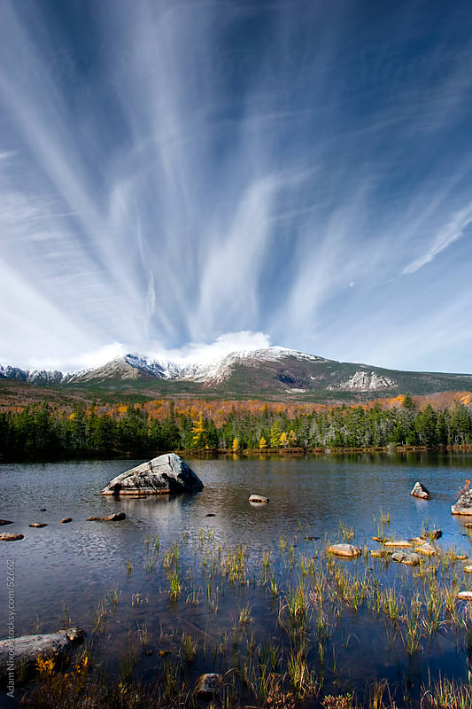 Sandy Stream Pond in Baxter State Park, Maine by Adam Nixon for Stocksy United