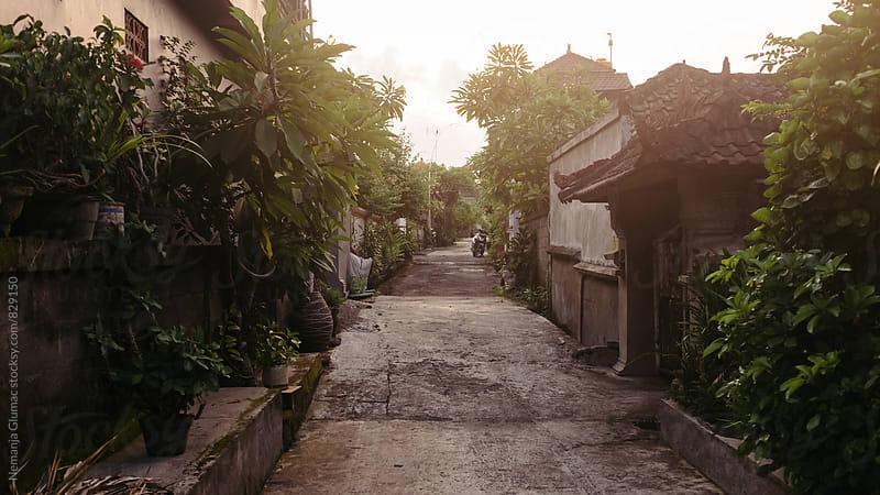Traditional Residential Street in Bali, Indonesia by Nemanja Glumac for Stocksy United