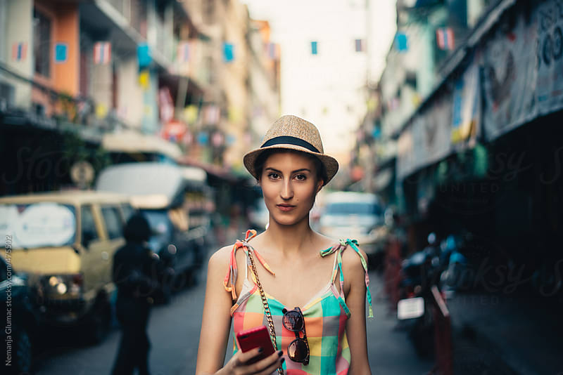 Beautiful Female Tourist in Bangkok by Nemanja Glumac for Stocksy United