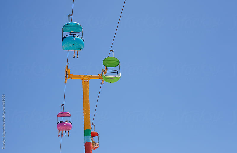Sky tram at the Boardwalk by Carolyn Lagattuta for Stocksy United