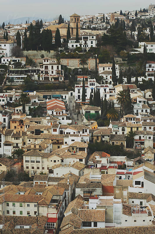 View over Granada and its rooftops by Kaat Zoetekouw for Stocksy United