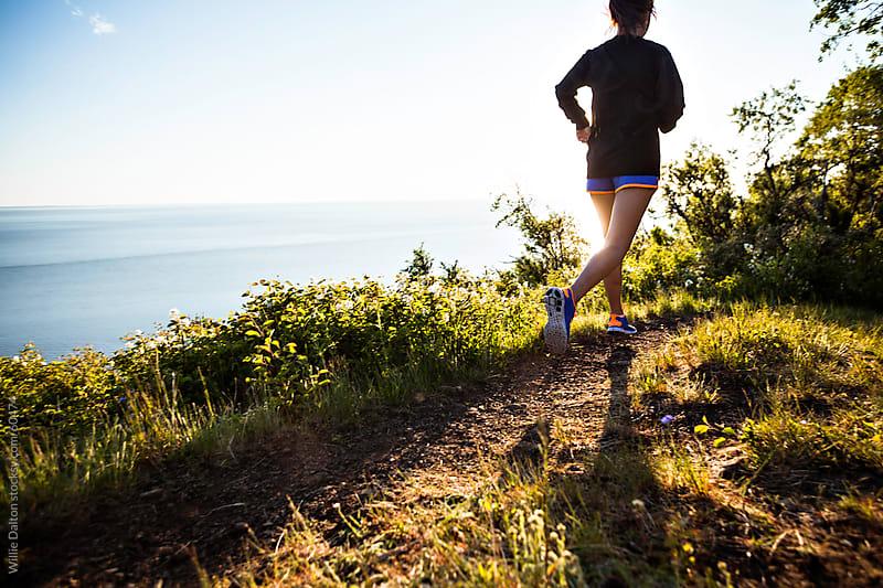 Sunset Oceanside Trail Run by Willie Dalton for Stocksy United