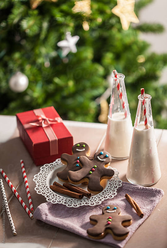 Christmas Cookies and Present by Mosuno for Stocksy United