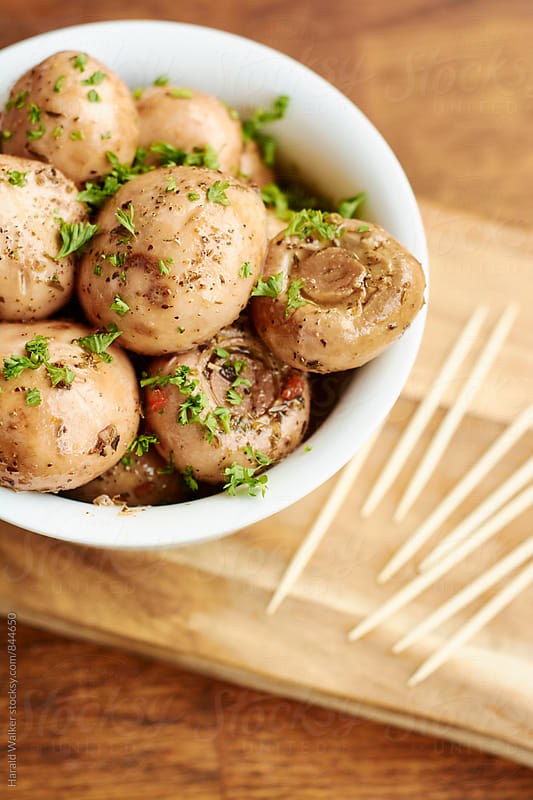 Marinated Mushrooms by Harald Walker for Stocksy United