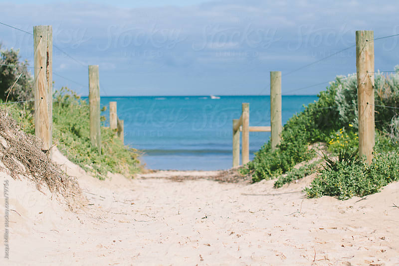 A path to the sea by Jacqui Miller for Stocksy United