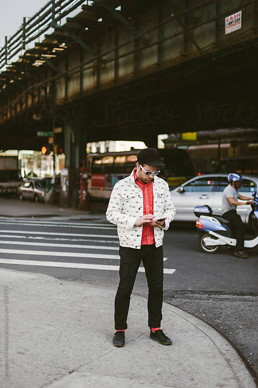 NYC Hipster portrait by Cameron Whitman for Stocksy United