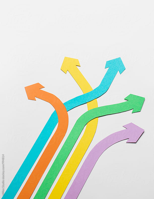 Paper arrows by Milles Studio for Stocksy United