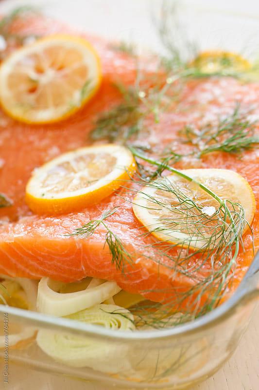 Raw Salmon Filet by Jill Chen for Stocksy United