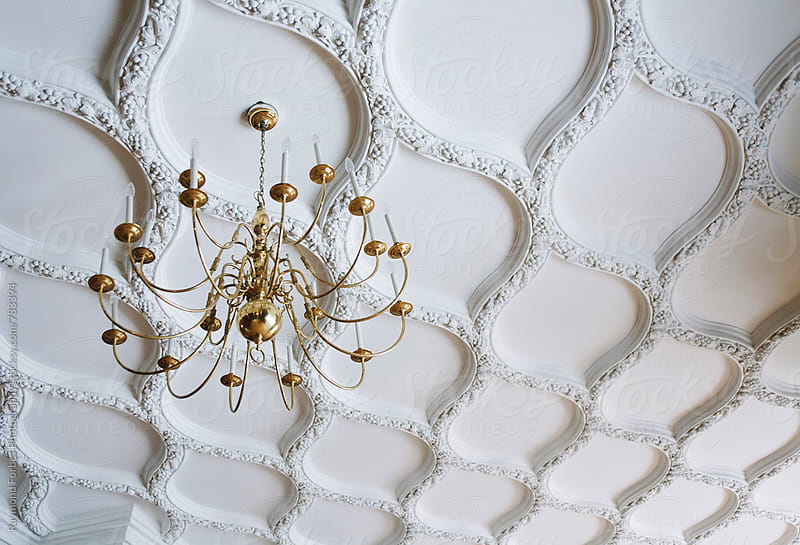Chandelier with Ornate Ceiling by Raymond Forbes LLC for Stocksy United
