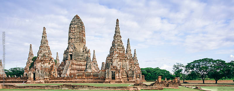 Wat Chaiwatthanaram temple in Ayutthaya, Thailand. by mee productions for Stocksy United