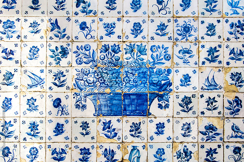 Old Tiles Backgound in Oporto by Bisual Studio for Stocksy United