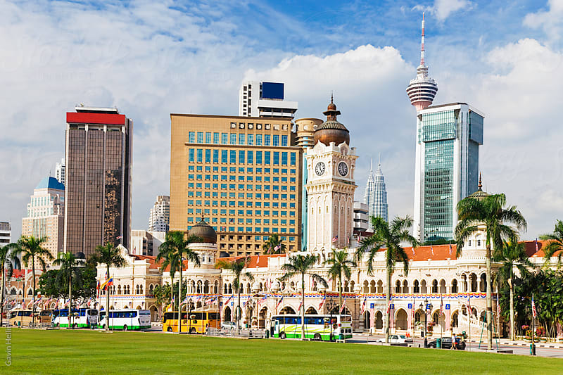 Asia, Malaysia, Selangor State, Kuala Lumpur, Sultan Abdul Samad Building in the central Merdeka Square Colonial district by Gavin Hellier for Stocksy United