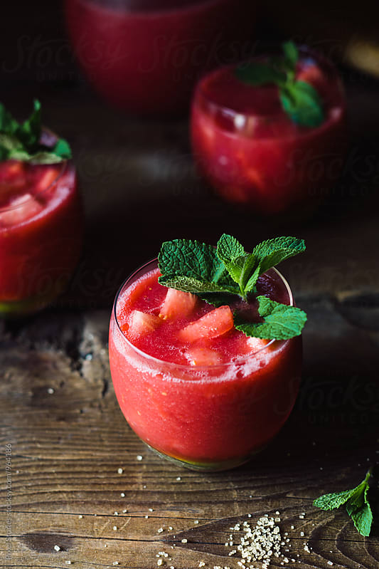 Watermelon agua fresca by Pixel Stories for Stocksy United