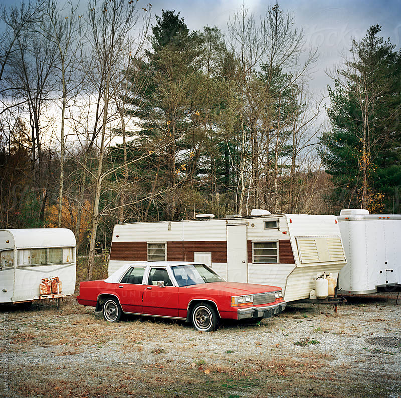 Car and trailers by James Ross for Stocksy United