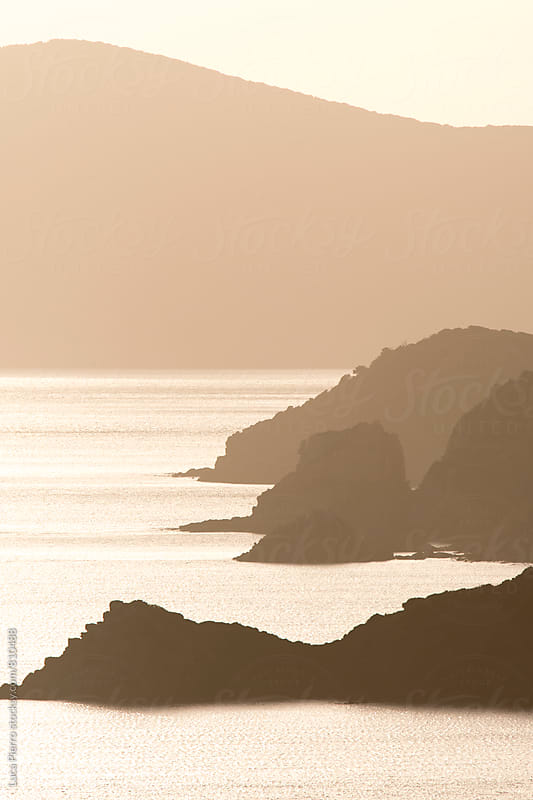 Sardinian coast at sunset by Luca Pierro for Stocksy United