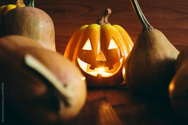 halloween pumpkins by Alexey Kuzma for Stocksy United
