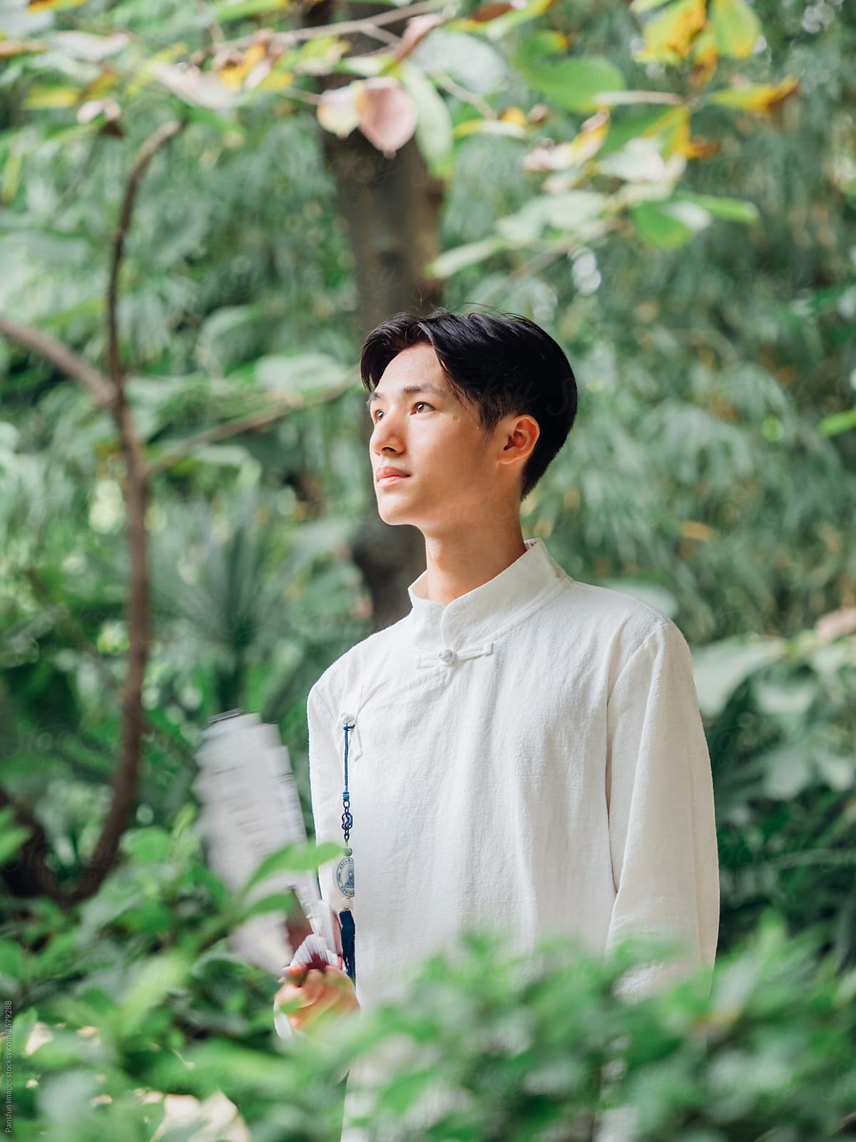 Asian Man Sit In Meditation In Zen Style Traditional Chinese Clothing By Pansfun Images Chinese Zen