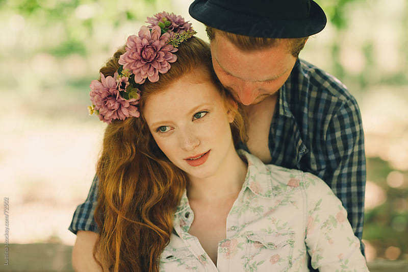 Romantic Ginger Couple Outdoors by Lumina for Stocksy United
