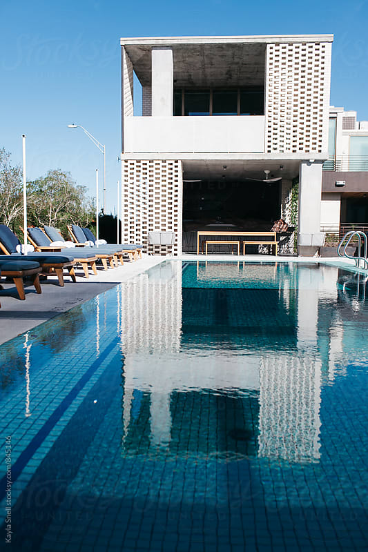 Beautiful Hotel Pool by Kayla Snell for Stocksy United