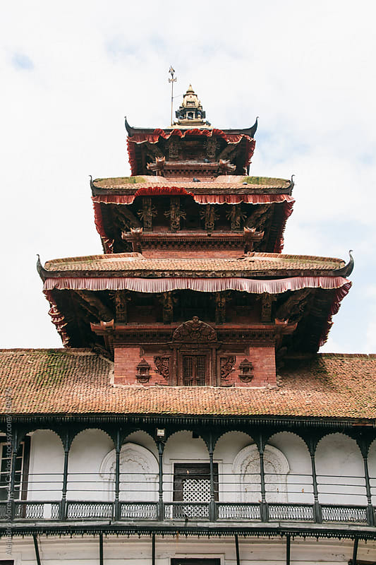 Temple - palace in Kathmandu, Nepal by Alejandro Moreno de Carlos for Stocksy United
