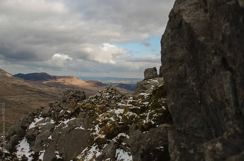 Cairn on Rocky Outcrop by Neil Warburton for Stocksy United
