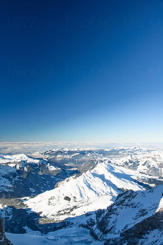 Panoramic view from Jungfraujoch by Peter Wey for Stocksy United